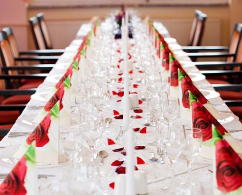 Das Restaurant »Zum Galloway« - Bild festlich dekorierte Tafel für ihren besonderen Anlass