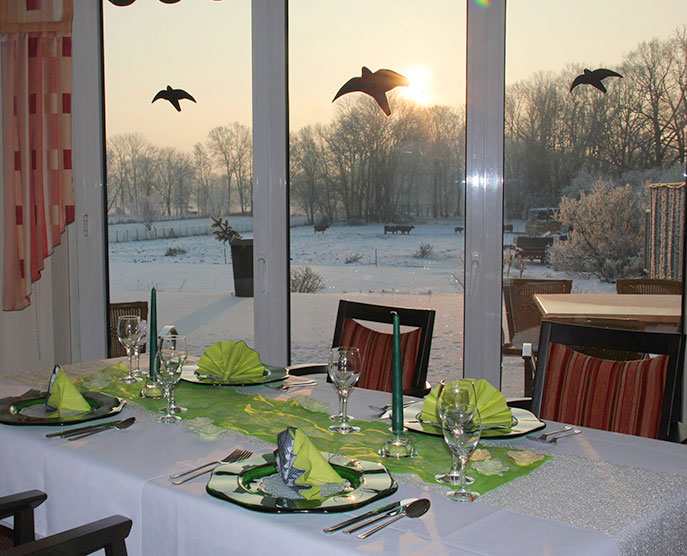 Restaurant »Zum Galloway« - Bild Tisch gedeckt für den besonderen Anlass