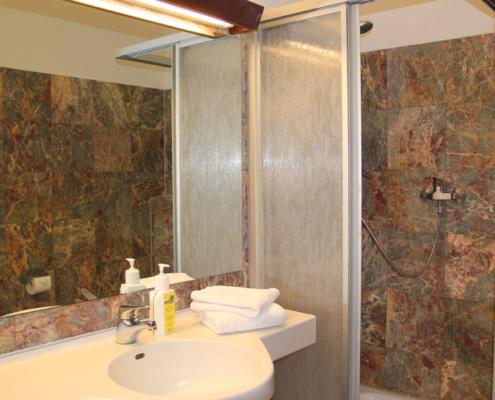 Landhotel Löwenbruch - Ansicht Zimmer - Bad mit Dusche