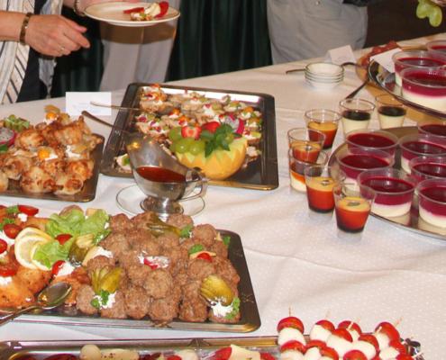 Leckeres Brunch/Buffet im Restaurant »Zum Galloway« mit Herzhaftem und Nachtisch