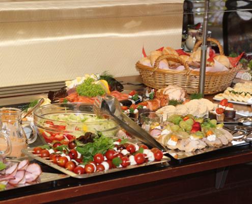Das Restaurant »Zum Galloway« Bild - Köstlickeiten auf dem Buffet