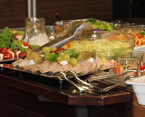 Das Restaurant »Zum Galloway« Bild - leckere Auswahl auf dem Buffet